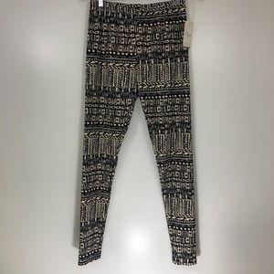 Misia Tribal Aztec Print Leggings M NWT